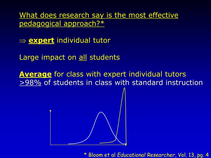 What does research say is the most effective pedagogical approach?*