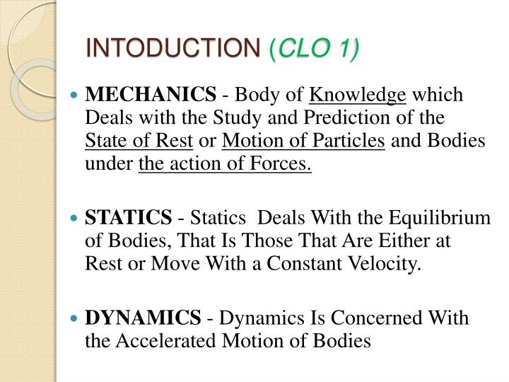 Intoduction clo 1