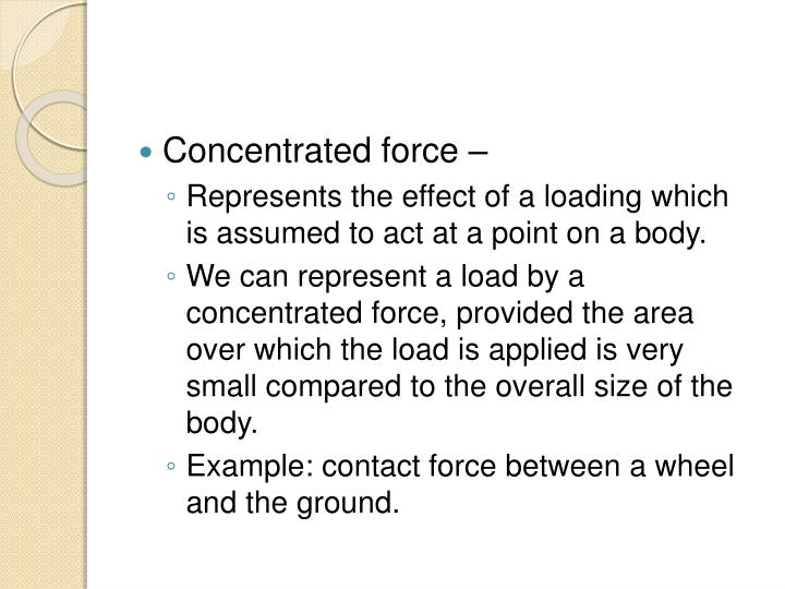 Concentrated force –