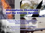 atmospheric chemistry and the climate system