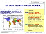 co tracer forecasts during trace p