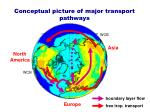 conceptual picture of major transport pathways