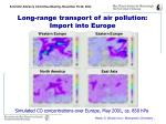 long range transport of air pollution import into europe