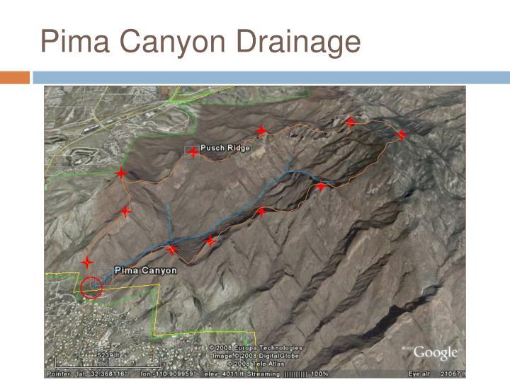 Pima canyon drainage