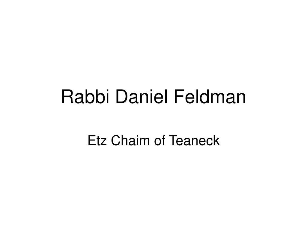 rabbi daniel feldman l.