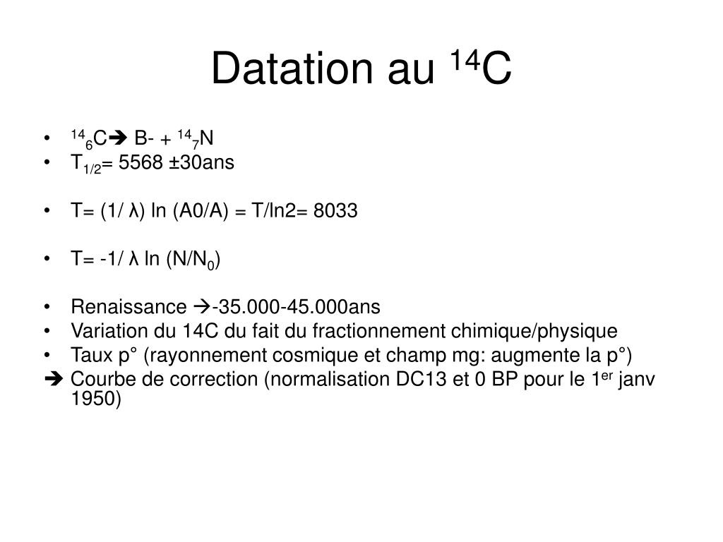 datation 14C