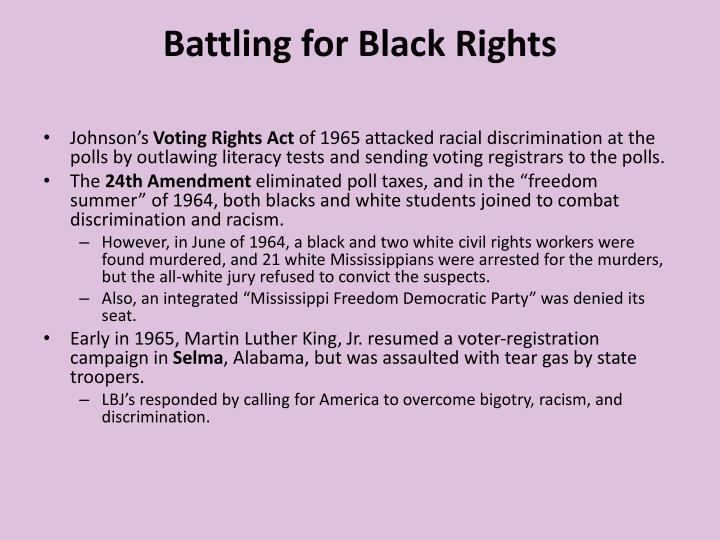 Battling for Black Rights