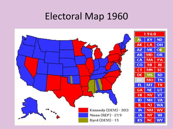 Electoral Map 1960