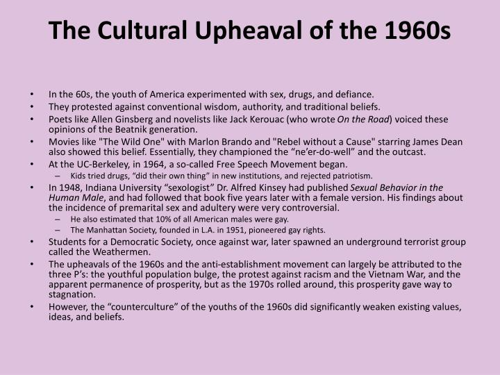 The Cultural Upheaval of the 1960s