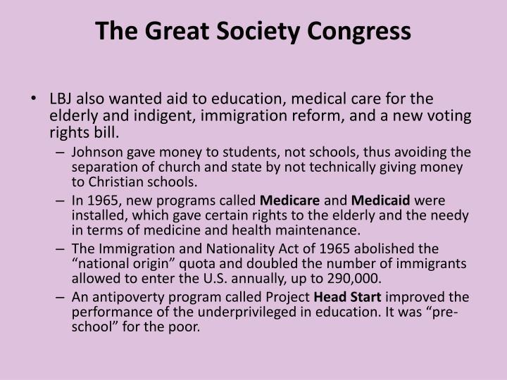 The Great Society Congress