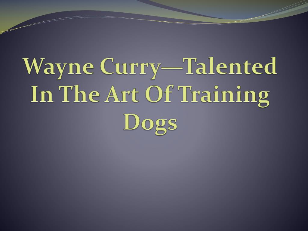 wayne curry talented in the art of training dogs l.