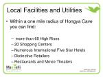 local facilities and utilities