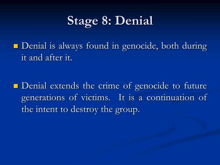 The Eight Stages of  Genocide - PowerPoint PPT Presentation