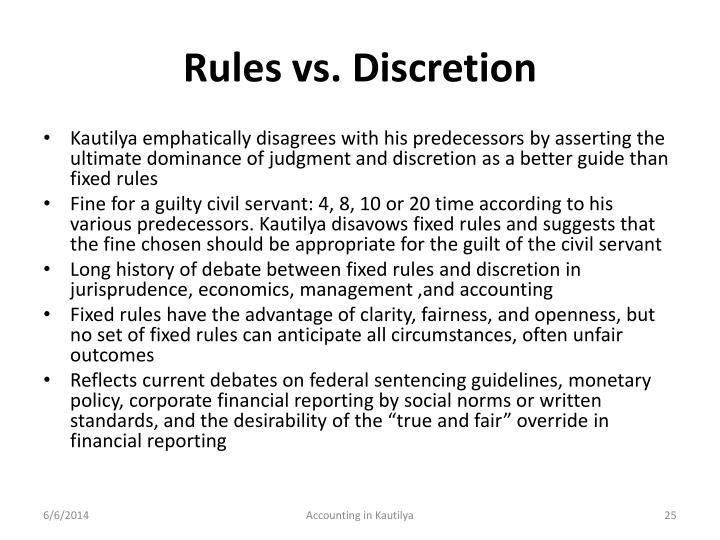 Rules vs. Discretion