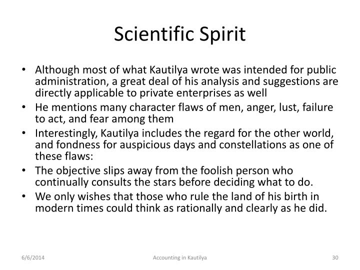 Scientific Spirit