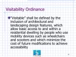 visitability ordinance