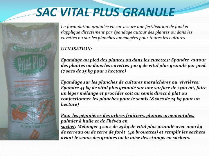 SAC VITAL PLUS GRANULE