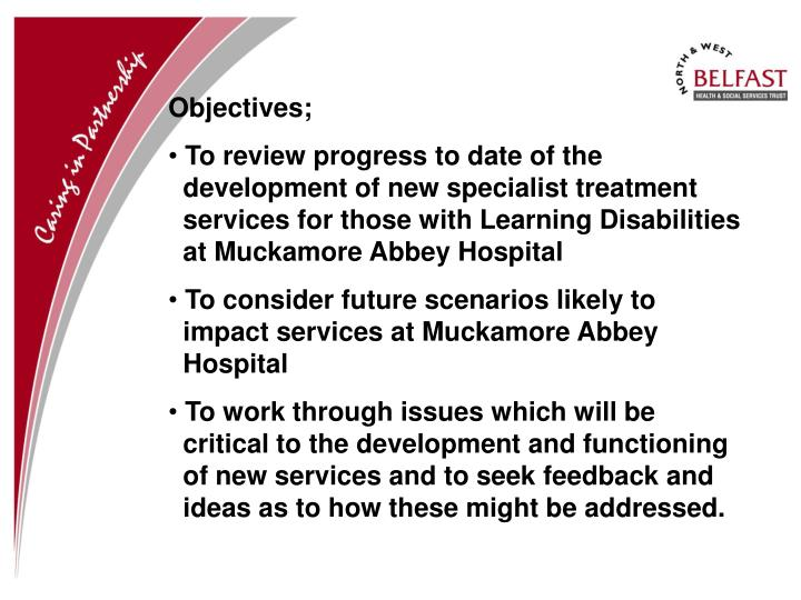 Objectives;