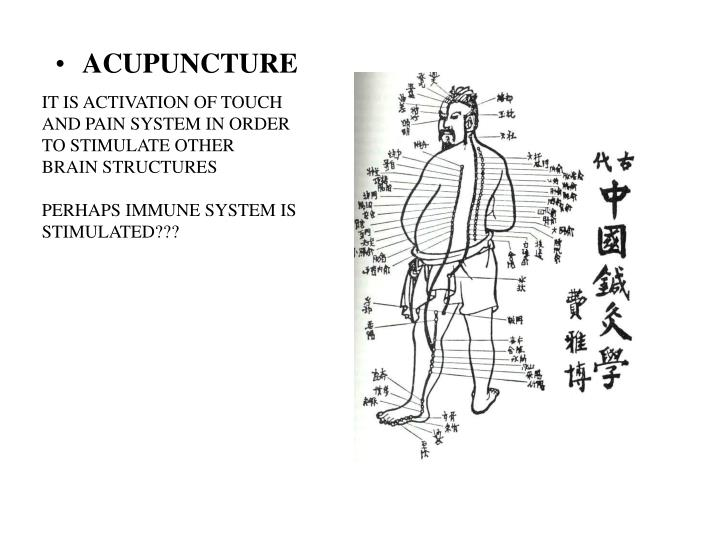 IT IS ACTIVATION OF TOUCH