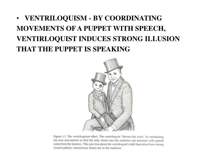 VENTRILOQUISM - BY COORDINATING