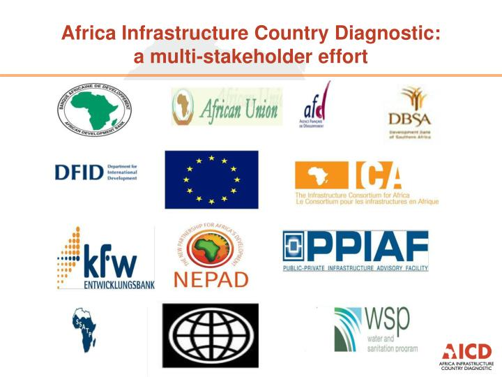 Africa infrastructure country diagnostic a multi stakeholder effort