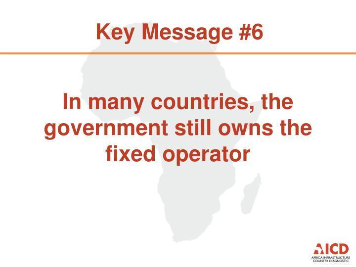 Key Message #6