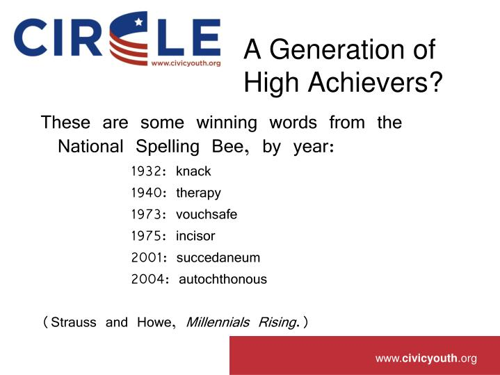 A generation of high achievers