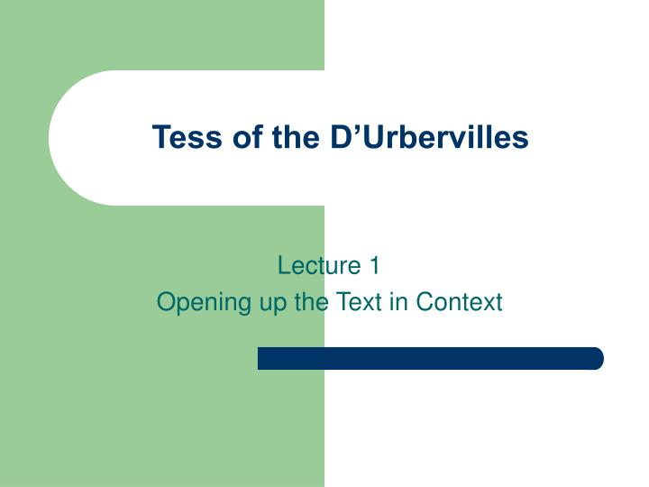 tess of the d urbervilles n.