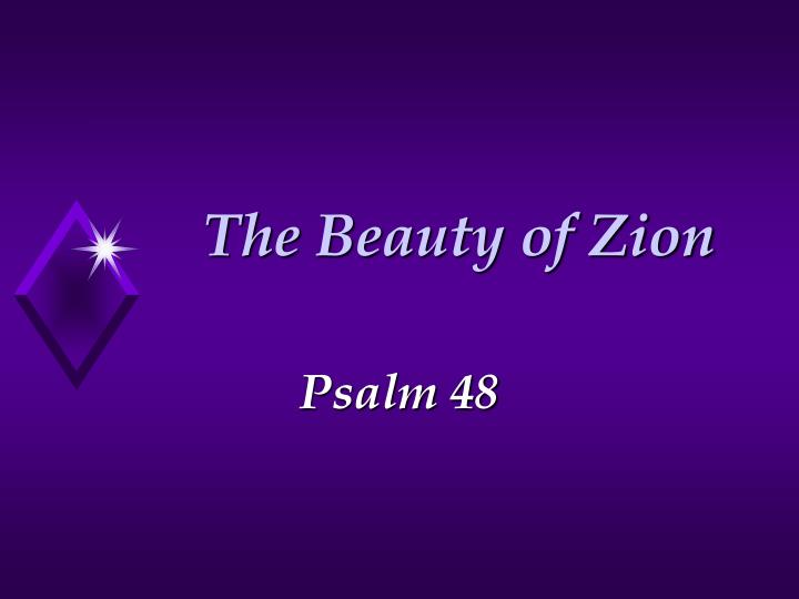 the beauty of zion n.