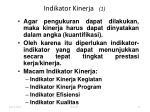 indikator kinerja 1