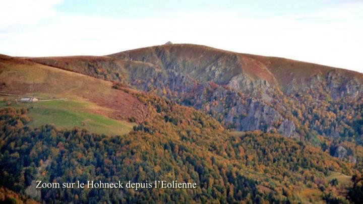 Zoom sur le Hohneck depuis l'Eolienne