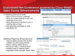 customized net conference powered by cisco webex sales center enhancements