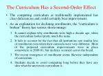 the curriculum has a second order effect