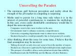 unravelling the paradox