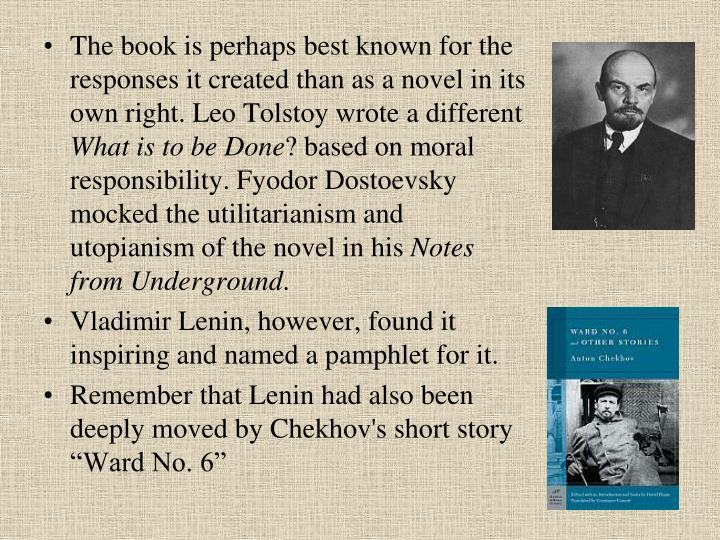The book is perhaps best known for the responses it created than as a novel in its own right. Leo Tolstoy wrote a different