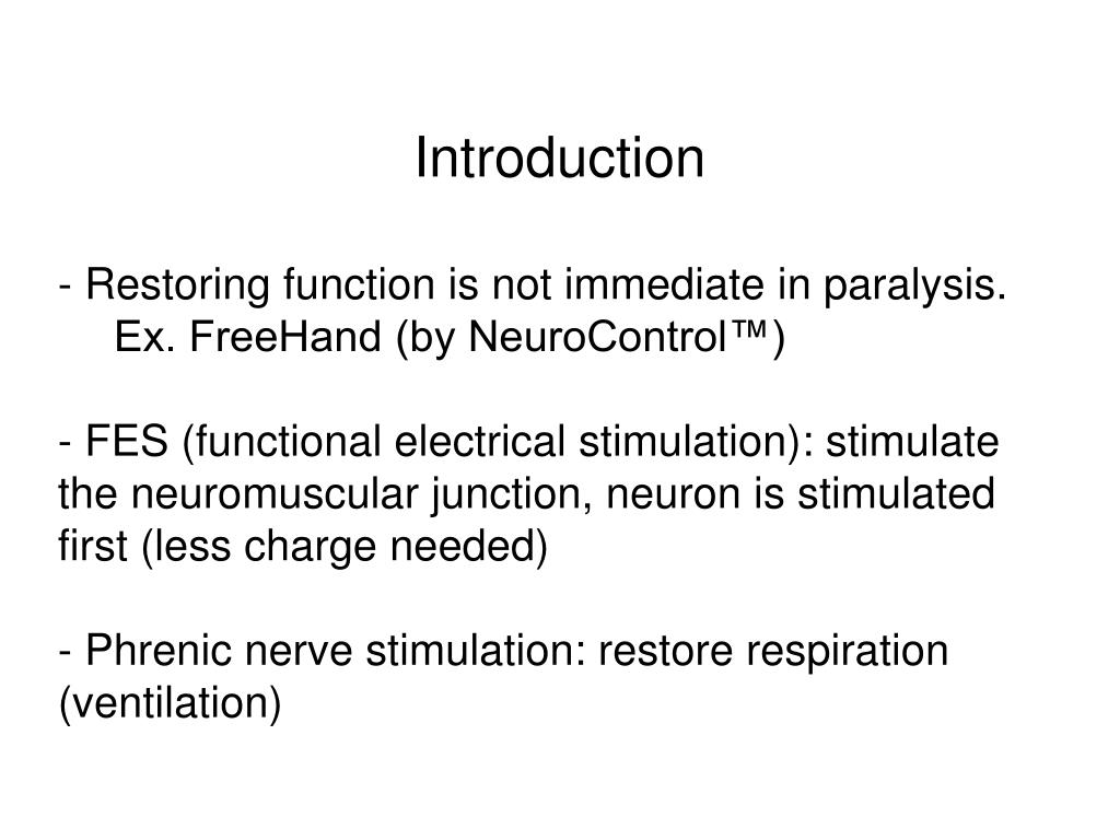 PPT - Electrical Stimulation of the Neuromuscular system