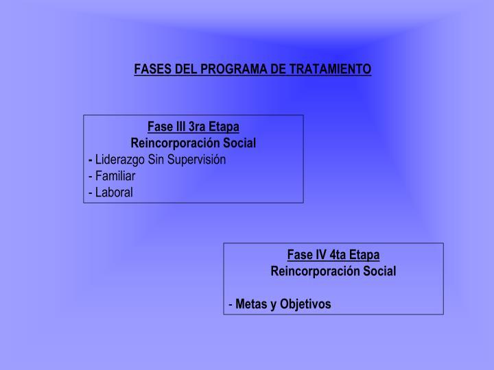 FASES DEL PROGRAMA DE TRATAMIENTO