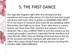 5 the first dance