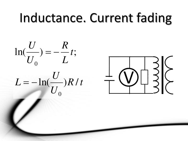 Inductance. Current