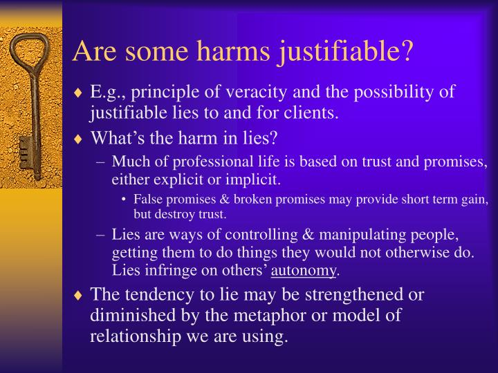 Are some harms justifiable?