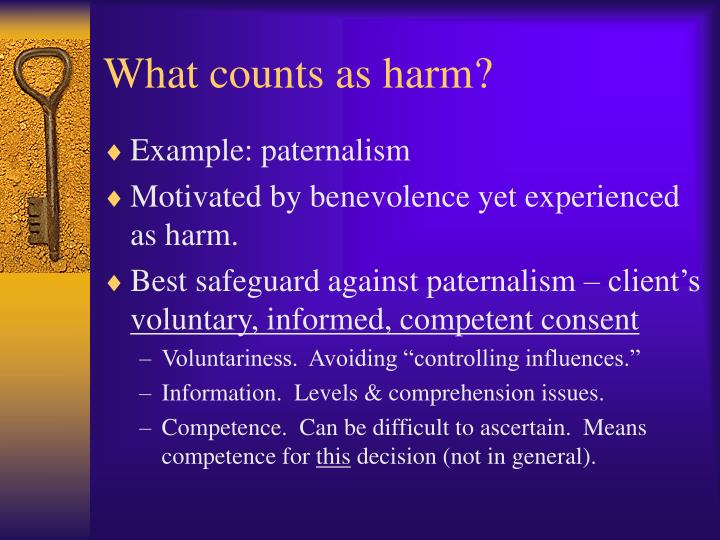 What counts as harm