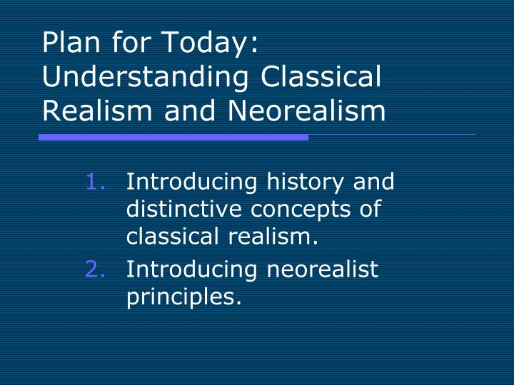 an introduction to the history of neo realism Start studying chapter 12 film as art which of the following statements about the introduction of synchronized the movement known as neorealism emerged in.