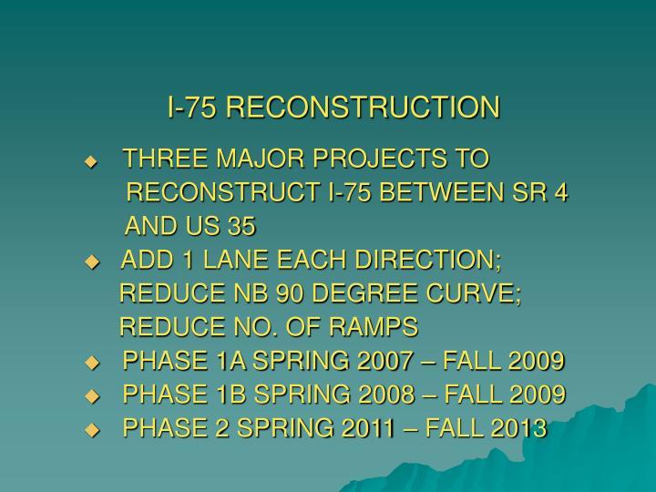 I 75 reconstruction