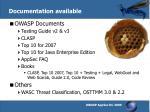 documentation available