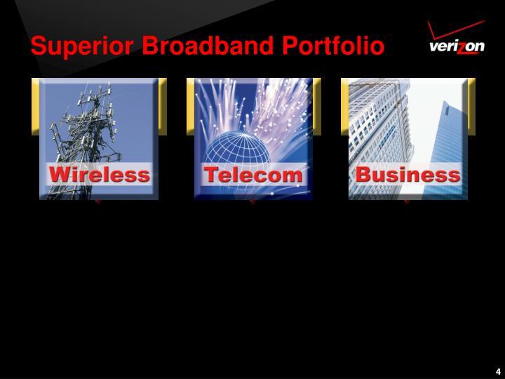 Superior Broadband Portfolio