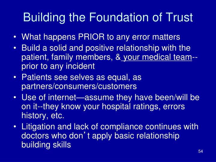 Building the Foundation of Trust