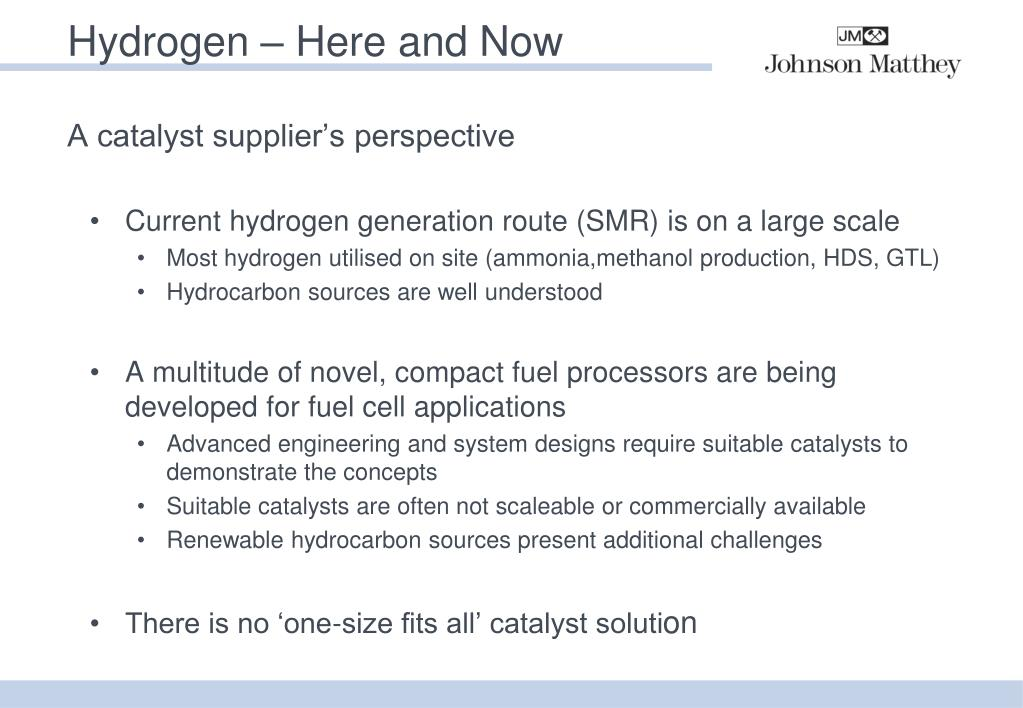 PPT - Challenges in Sustainable Hydrogen Production PowerPoint