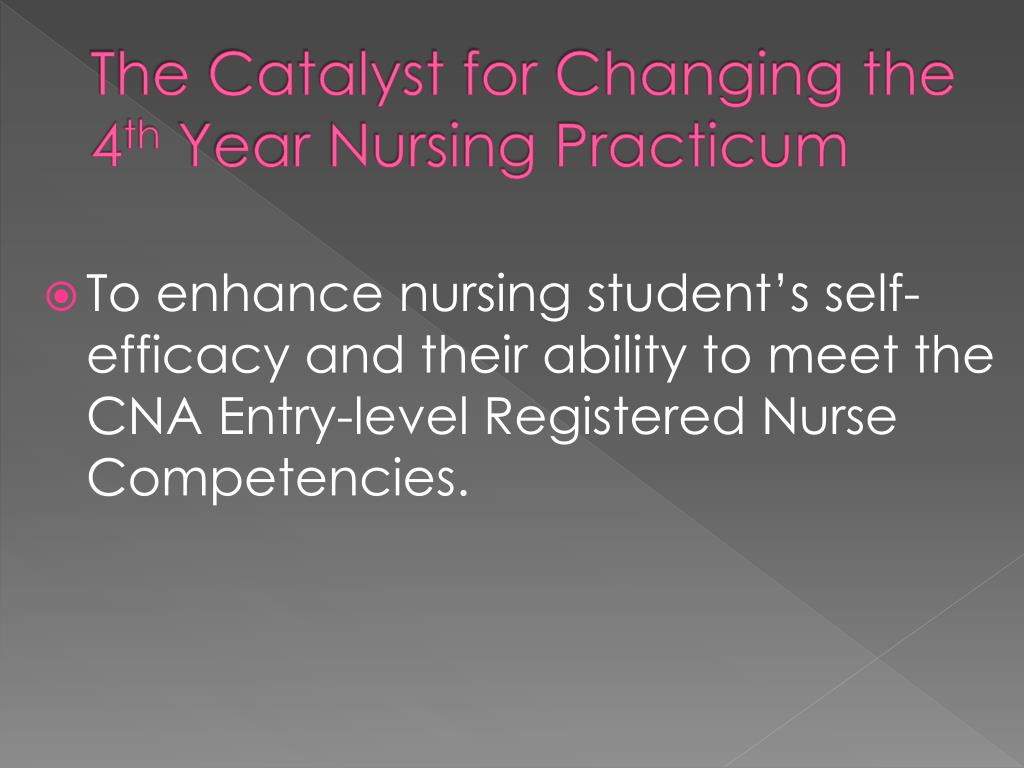 PPT - Evaluation of a Nursing Practicum Focused on the Needs of