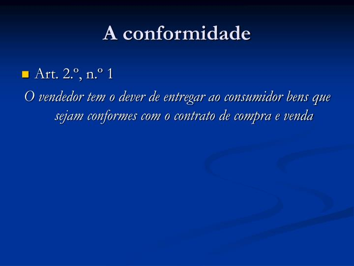 A conformidade