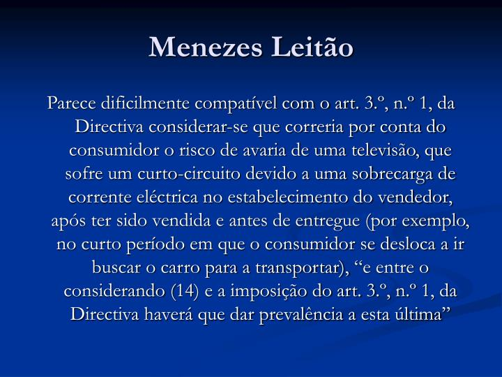 Menezes Leitão